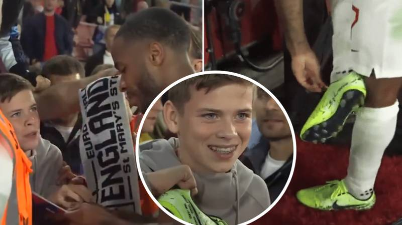 Raheem Sterling Gave His Boots To A Young Fan In Class Gesture After England Heroics