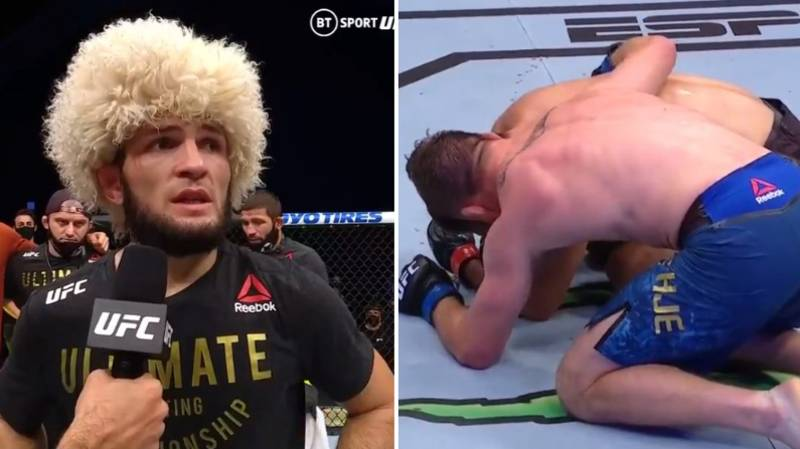 Khabib Nurmagomedov's Classy Message To Justin Gaethje Following UFC 254