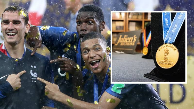 Member Of France's 2018 World Cup Squad Sells Winners Medal For Insane Cash