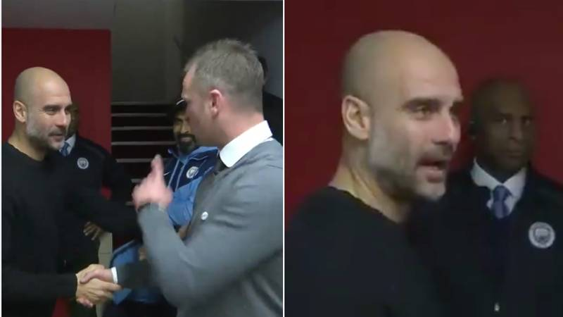 """Newport Manager Calls Pep Guardiola An """"Absolute Genius"""" In Tunnel Before Kick-Off"""