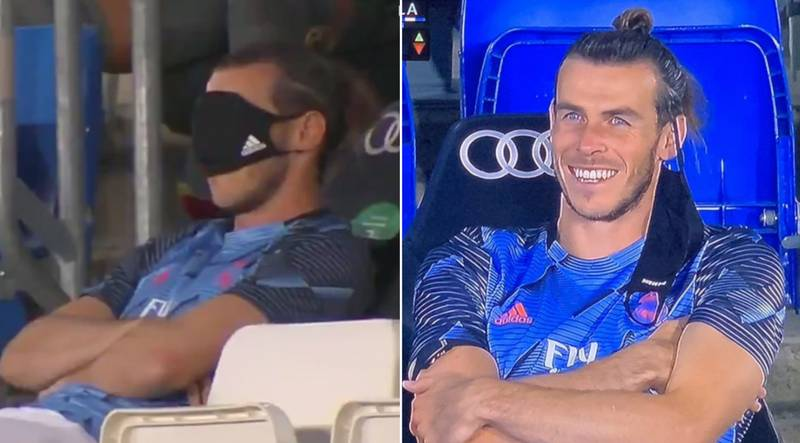 Gareth Bale Trolls Real Madrid After Using Face Mask As A Sleep Mask