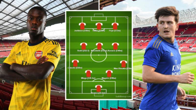 Harry Maguire And Nicolas Pepe Feature In Premier League Most Expensive Summer Transfers XI Costing £547.5million