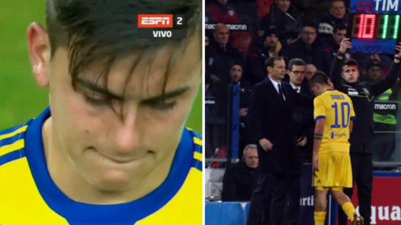 Paulo Dybala In Tears After Suffering Injury In Cagliari Win