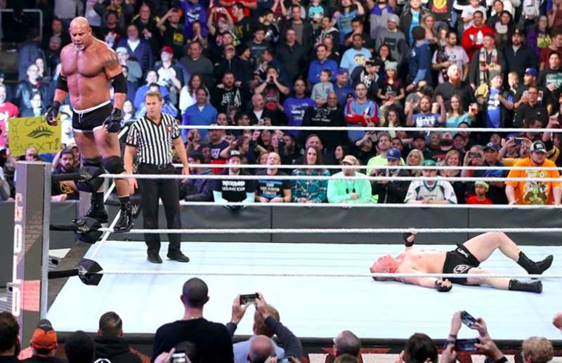 The Highly Anticipated Goldberg Vs Brock Lesnar Match Only Lasted Two Minutes