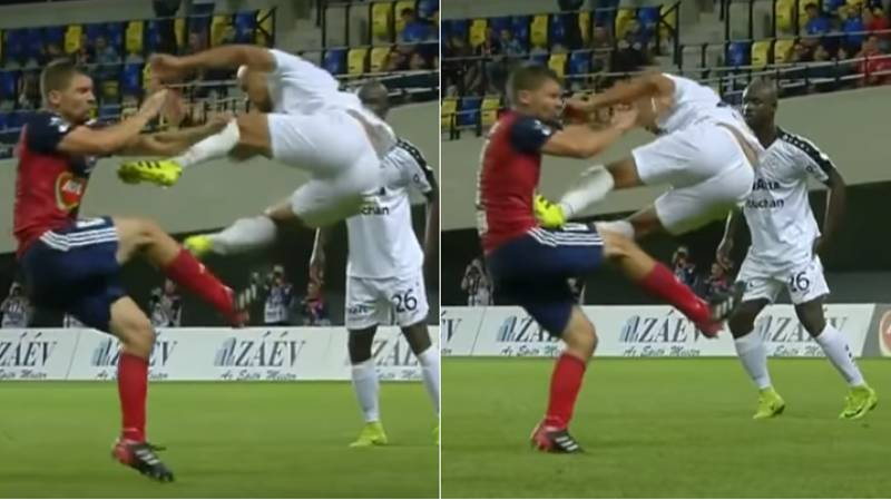 Watch: Bryan Melisse Drop Kicks Player During Champions League Qualifier