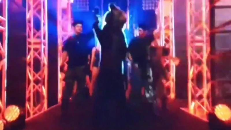 Fans Outraged As Fighter Walks Out With Live Bear During Boxing Match
