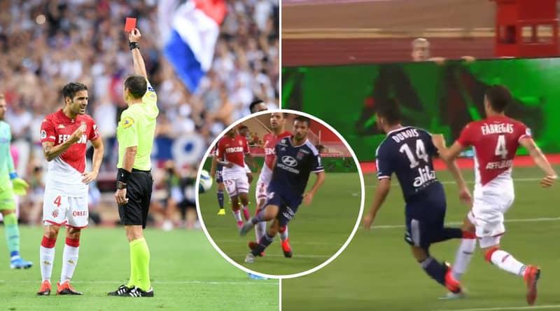 Cesc Fabregas Controversially Sent Off For Monaco After VAR Ruling