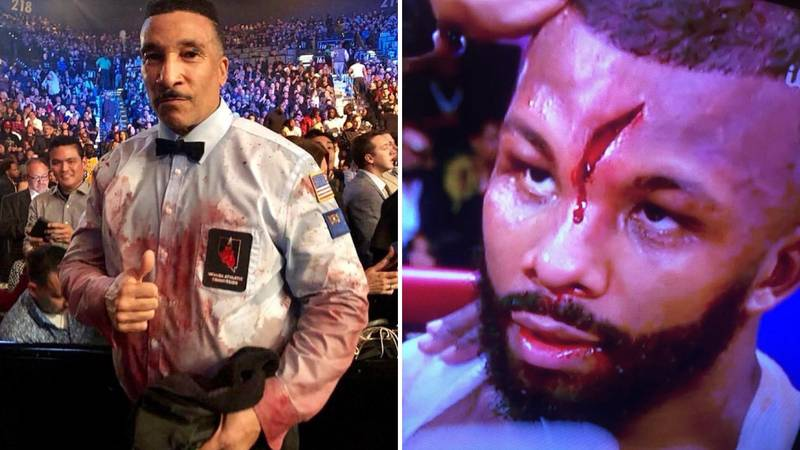 Badou Jack Suffers A Horrific Cut Against Marcus Browne On Pacquiao-Broner Undercard