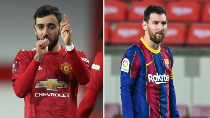 Bruno Fernandes Has Been Matching Lionel Messi's Numbers Since Joining Manchester United