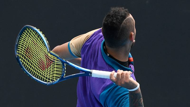 Nick Kyrgios Throws Tennis Racquet Into Empty Stands After Battling With Injury
