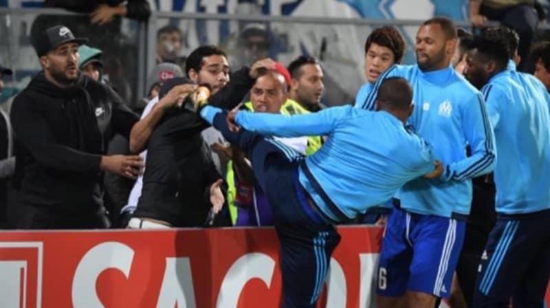 Watch: Patrice Evra Kicks Fan In Head Ahead Of Marseille Game