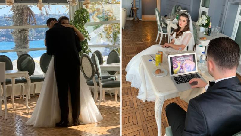 Groom Brings Laptop To His Wedding Day To Play Football Manager