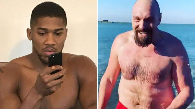 Anthony Joshua's Reaction To Tyson Fury's Physique In Latest Video Ahead Of Potential Mega-Unification Clash