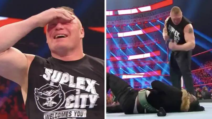 Brock Lesnar Broke Character To Deliver The Greatest One-Liner In WWE History
