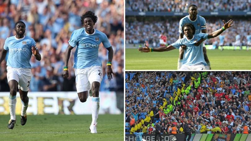 Emmanuel Adebayor's Celebration Against Arsenal Is An All-Time Classic Premier League Moment